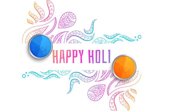 Happy Holi Simple Wallpaper