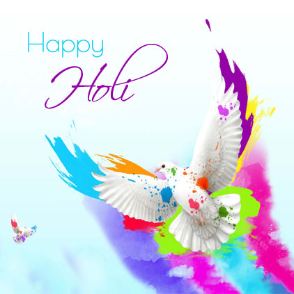 Holi Colorful DP for Whatsapp
