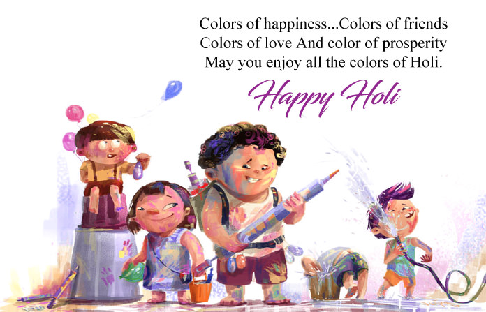 Holi Images for Friends with Msg