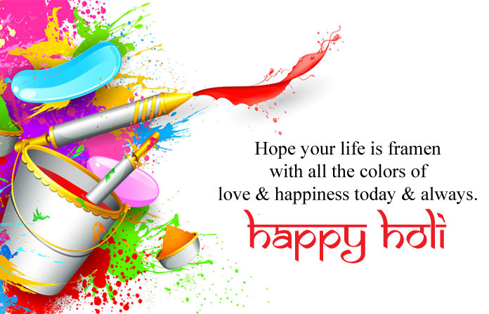 Happy Holi Wishes Images With Quotes Messages 2018 Hd Festival Pics