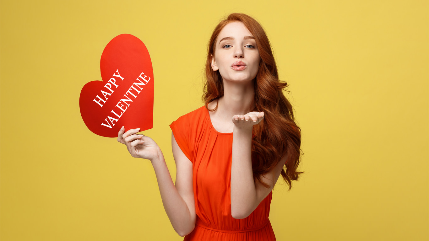 Hot Girl Valentine Wallpaper