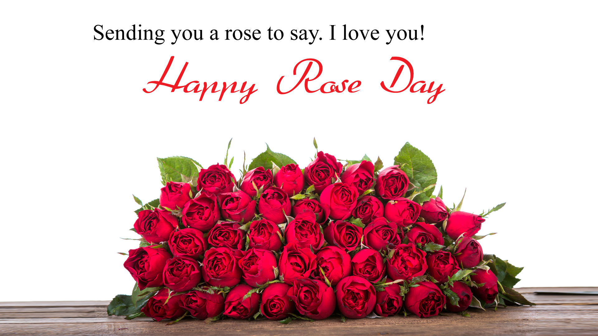 I Love You Rose Day Wallpaper