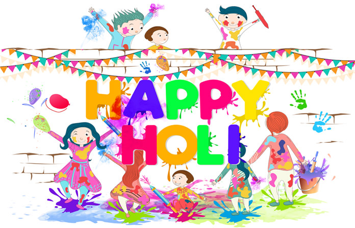 Kids Playing Holi Wallpaper