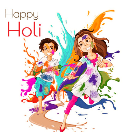 Love Holi DP for Couple
