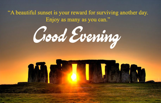 Good Evening Quotes in English