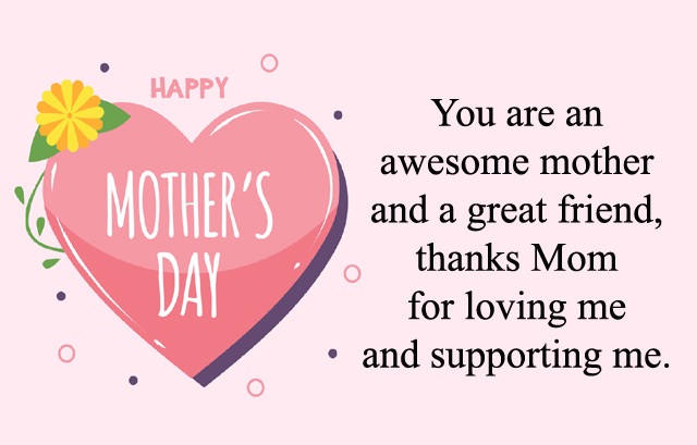 Happy Mother's Day Thanks Wishes