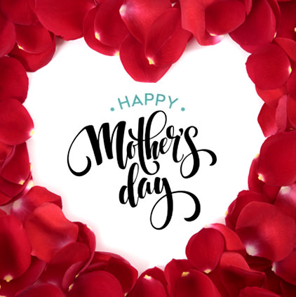 Mother Day Display Photo with Red Heart