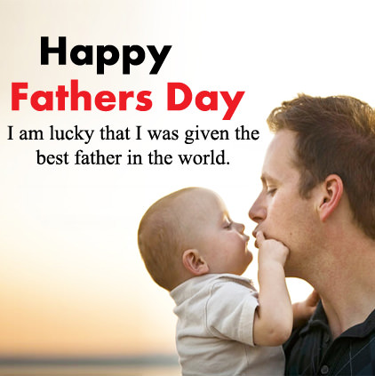 Cute Fathers Day Images with Baby