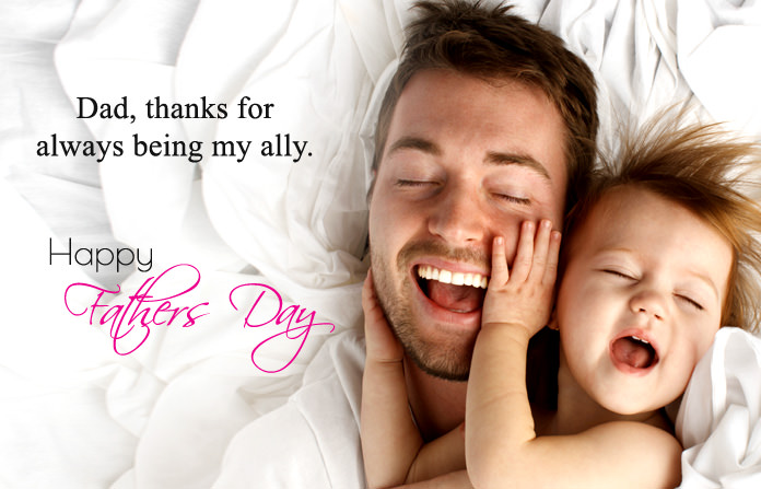 Cute Happy Fathers Day Quotes Images from Son