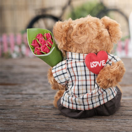 Cute Love Roses Teddy DP for Lovers