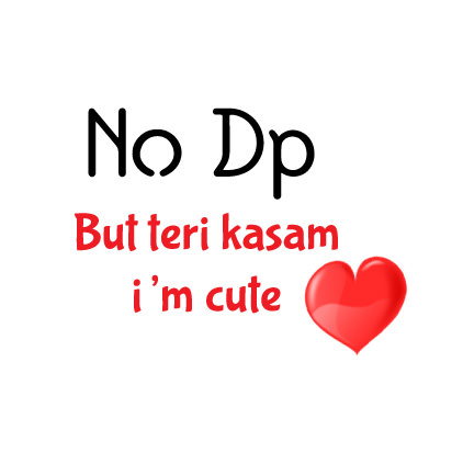 Cute NO DP