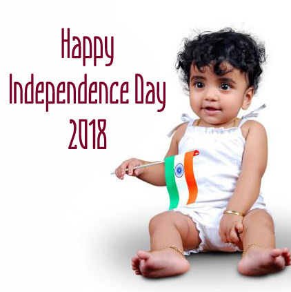 Happy Independence Day DP of Kid