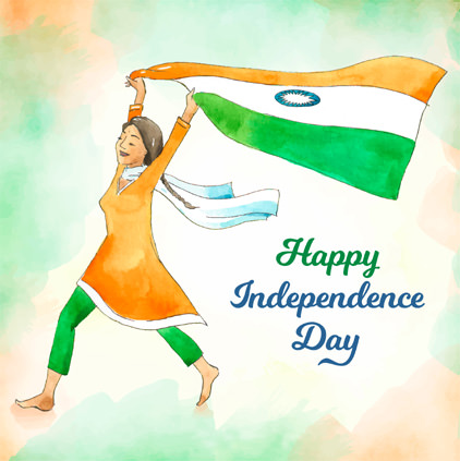 Independence Day DP for Girls
