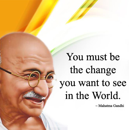 Independence Day Gandhi Ji DP with Quotes