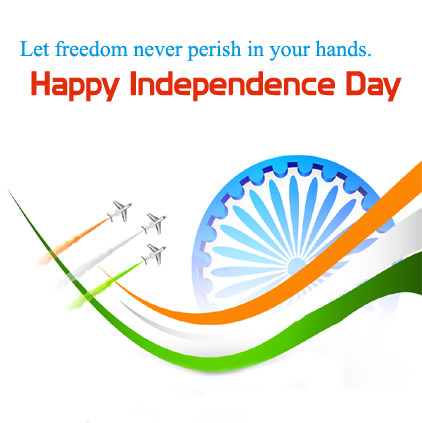 Independence Day Whatsapp Image with Quotation