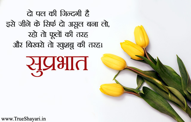 Suprabhat Msg about Flower Phool Image