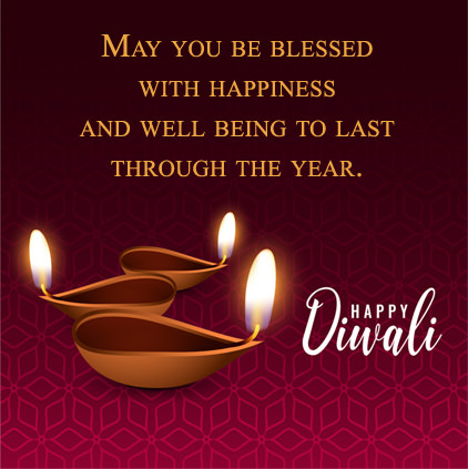 Diya Images with Diwali Wishes Quotes