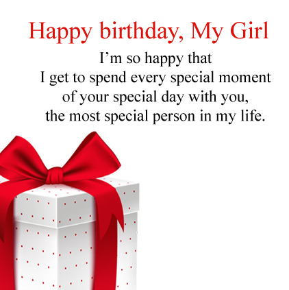 Happy Birthday My Girl Images Quotes