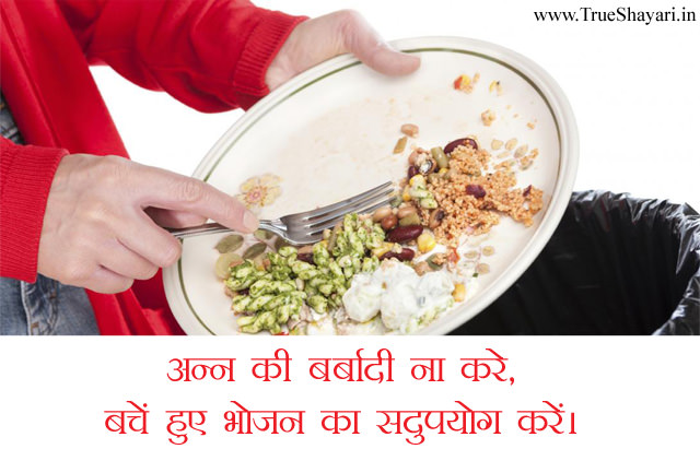 Don't Waste Food Slogans in Hindi