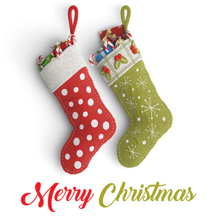Cute Merry Christmas DP Image with Socks