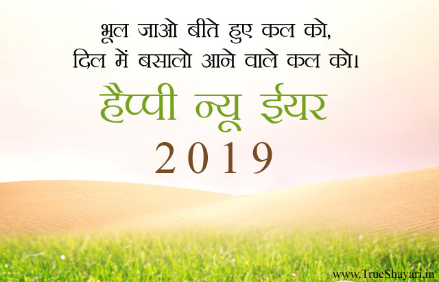 Happy New Year Wishes Image in Hindi