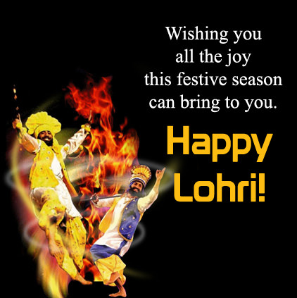 Happy Lohri DP in English