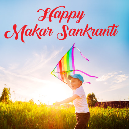 Makar Sankranti Pics with Kids and Kites