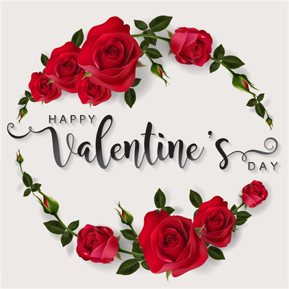 Happy Valentine Day Greeting with Roses