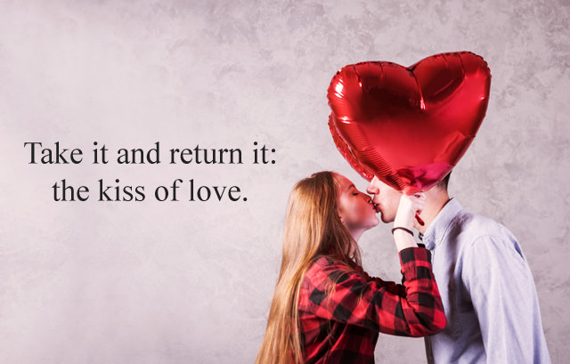 Love Kiss Image with Sayings