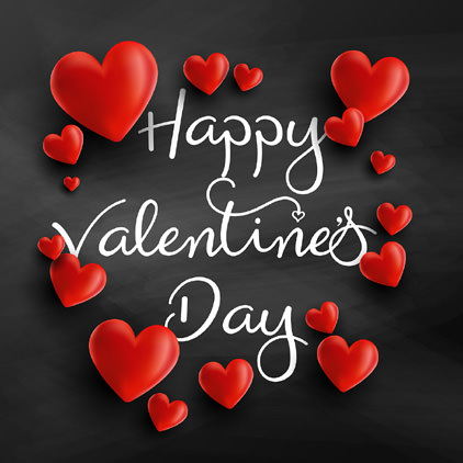 Red Heart Happy V Day Pics