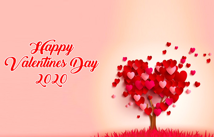 Red Heart Tree Valentine Greetings for 2020