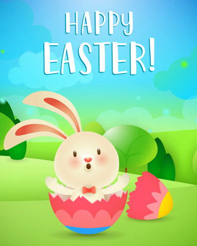 Cute Happy Easter for Kids