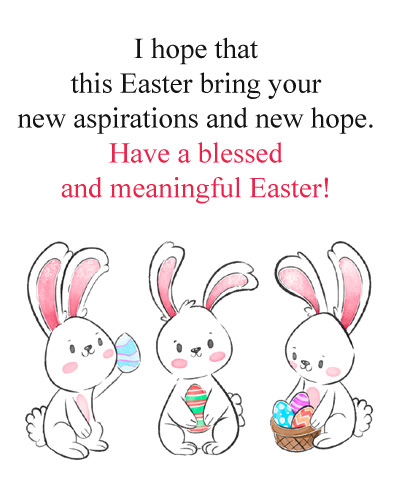 Easter Blessing Msg with Cute Bunnies