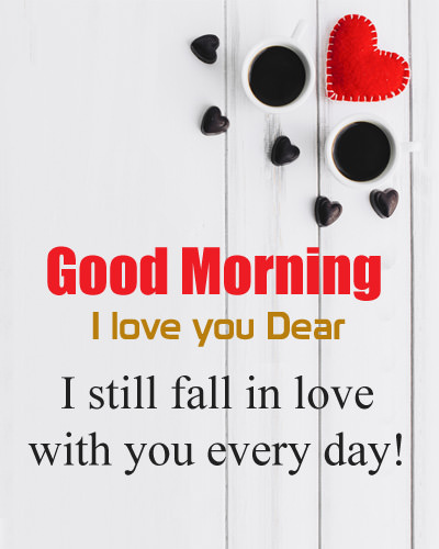 Fall in Love Good Morning DP
