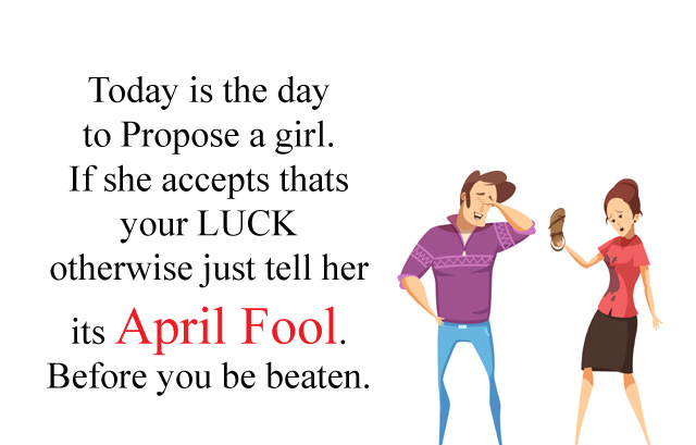 Flirt Funny April Fool Message for Girls