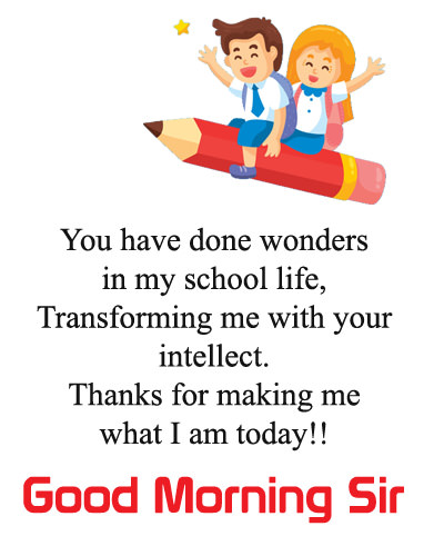Good Morning Wishes for School Sir
