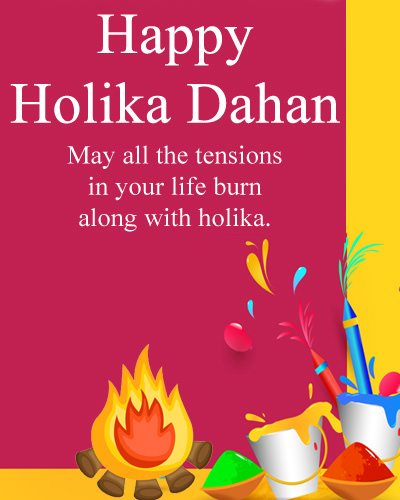 Happy Holika Dahan Images HD & Wishes Messages in Hind English
