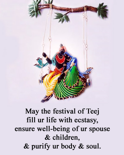 Radha Krishna Teej Wishes Images