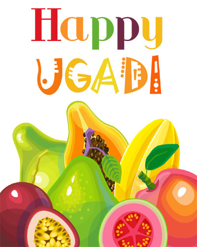 Ugadi Pics with Fruits