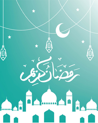 Mosque Moon with Urdu Ramadan
