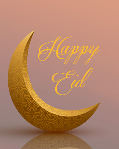 Eid with Moon Pic