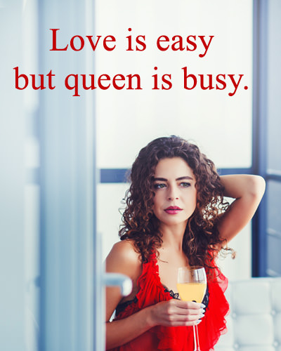 Love and Queen Attitude Status with Girl Pic