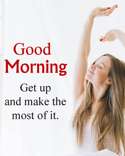 Morning Quote with Smiling Face