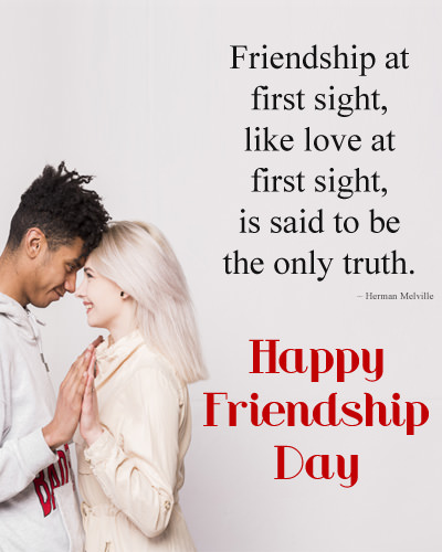 First Sight Friendship Love Quote