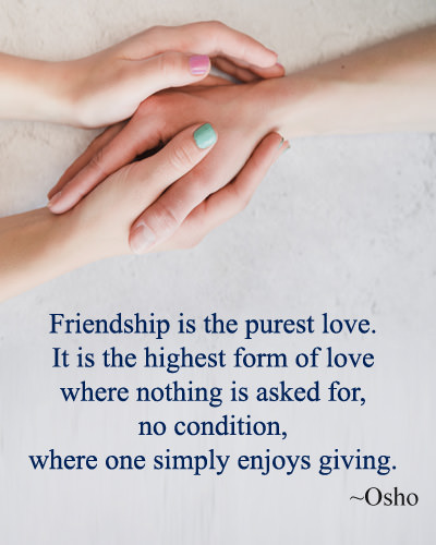 Friendship Purest Love Message