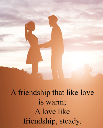 Love Between Friends Quotes with Images