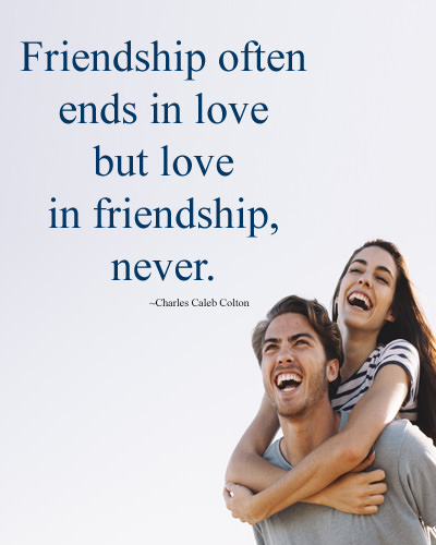 Love in Friendship Never Ends