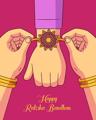 Rakhi on Brother Hands By Sister