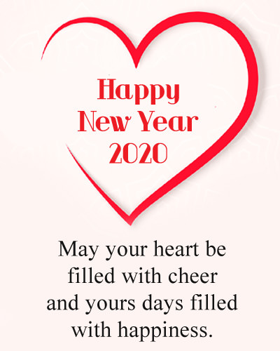 Happy New Year 2020 Love Heart DP