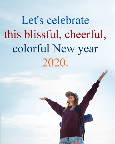 New Year Blessing Image for 2020